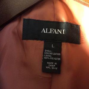 Alfani Jackets & Coats - Alfani Pink Faux Snakeskin Genuine Leather Jacket
